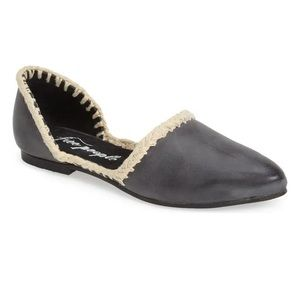 Free People Lisbon D'Orsay Distressed Flats size 7